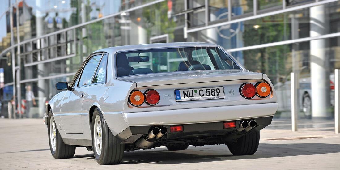 Ferrari 412, Heckansicht