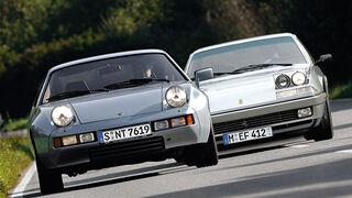 Ferrari 412, Porsche 928, Frontansicht
