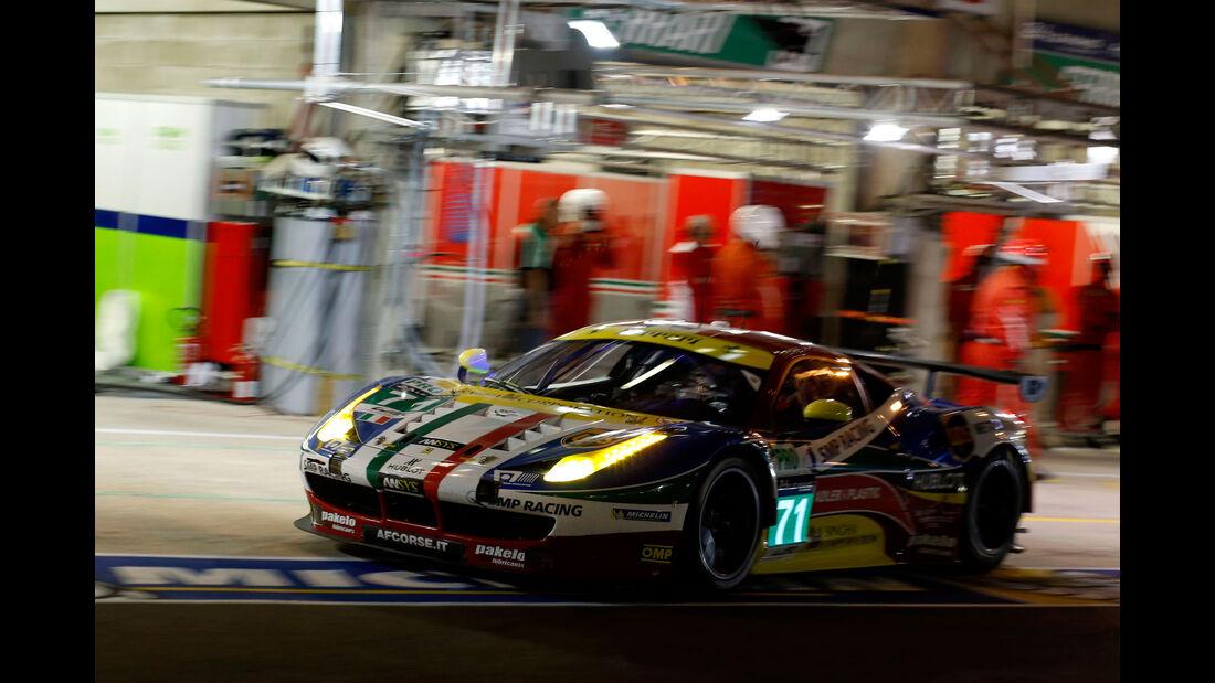 Ferrari 458 - AF Corse - Startnummer #71 - 24h Rennen Le Mans - 1. Qualifying - Mittwoch 10.6.2015