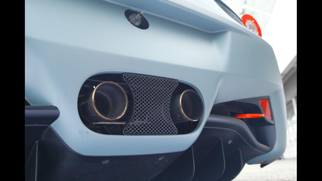 Ferrari 458 Challenge, Detail, Auspuffanlage, Auspuff