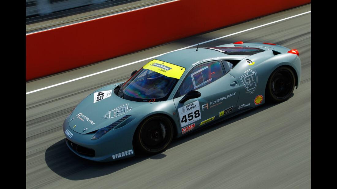 Ferrari 458 Challenge, Draufsicht, Seitenansicht