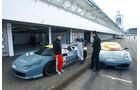 Ferrari 458 Challenge, F430 Challenge, Frontbild, Boxengasse