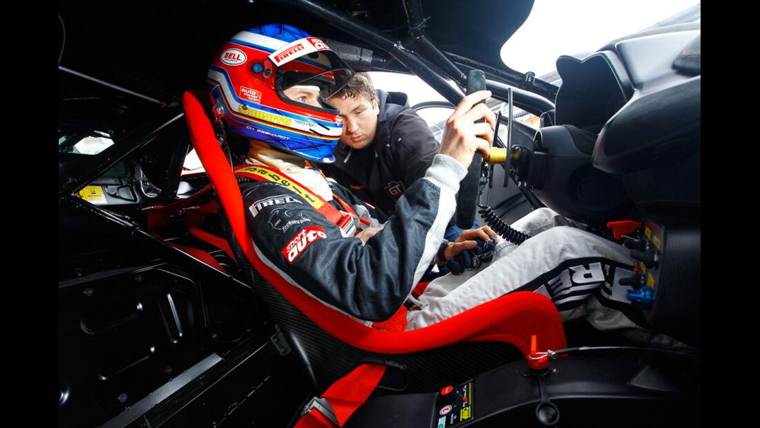 Ferrari 458 Challenge, Fahrer, Cockpit