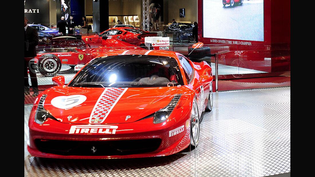 Ferrari 458 Challenge, Innenraum