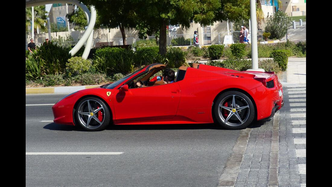 Ferrari 458 - F1 Abu Dhabi 2014 - Carspotting