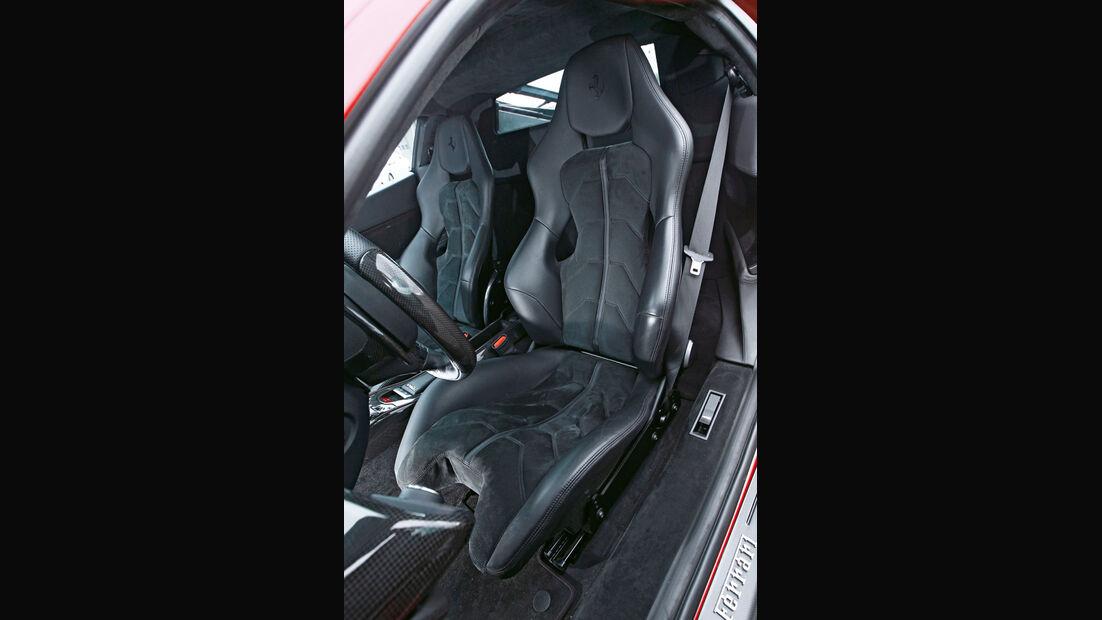 Ferrari 458 Italia, Fahrersitz, Sportsitz