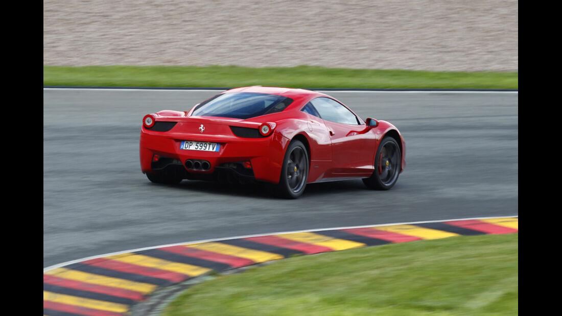 Ferrari 458 Italia, Heck