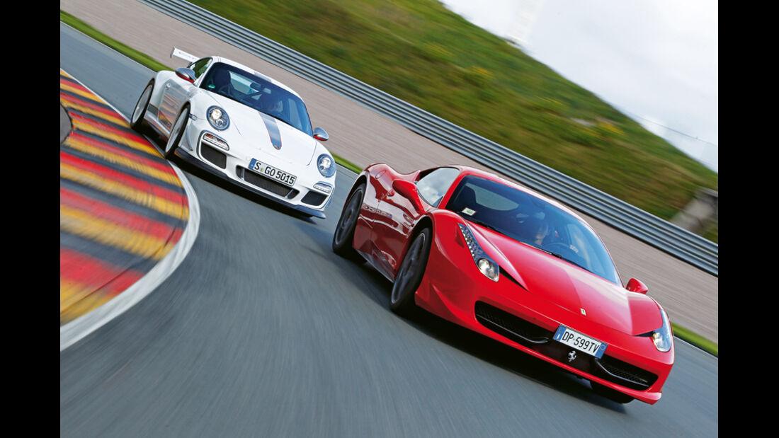 Ferrari 458 Italia, Porsche 911 GT3 RS 4.0, Frontansicht