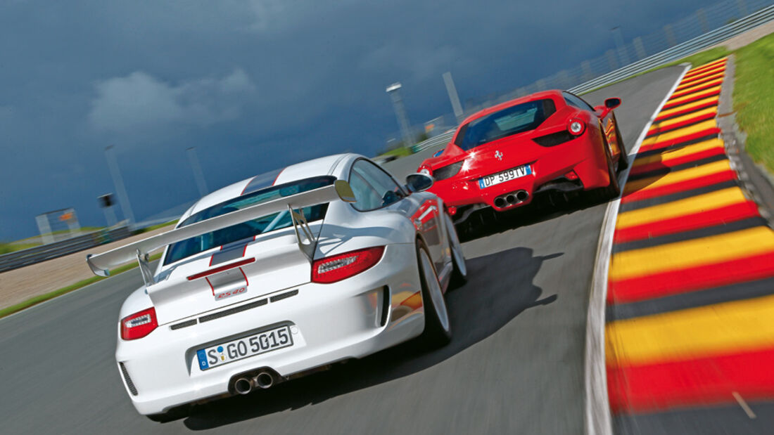 Ferrari 458 Italia, Porsche 911 GT3 RS 4.0, Heck