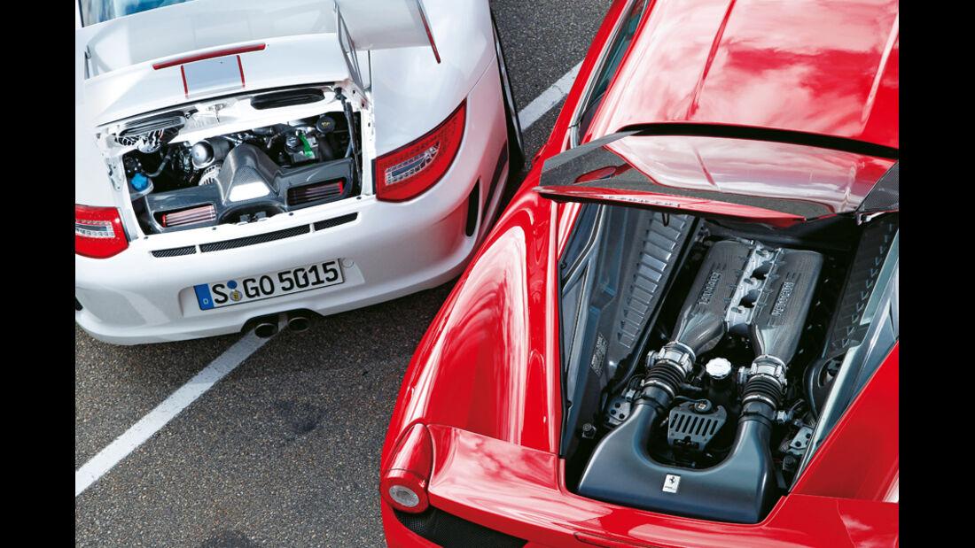 Ferrari 458 Italia, Porsche 911 GT3 RS 4.0, Motoren