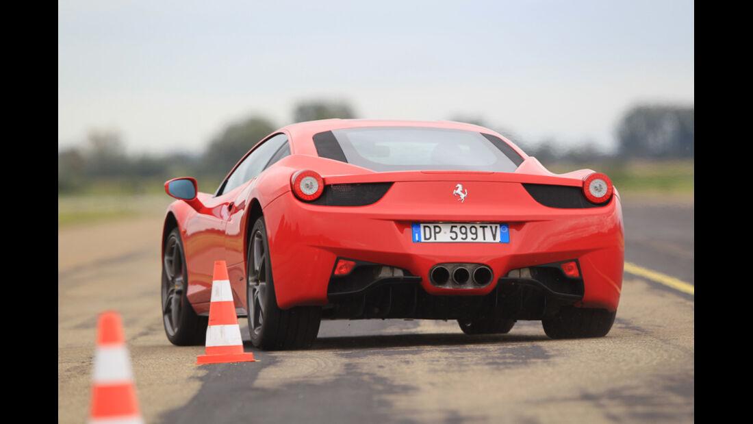 Ferrari 458 Italia, Slalom, Heck
