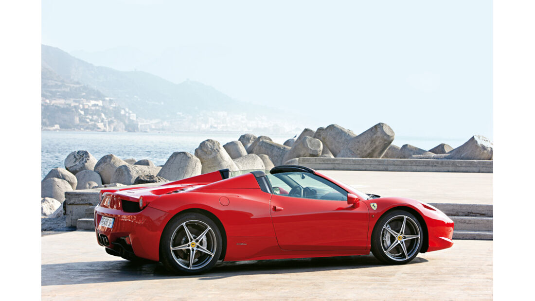 Ferrari 458 Italia Spider, Cabrio, Dachöffnung