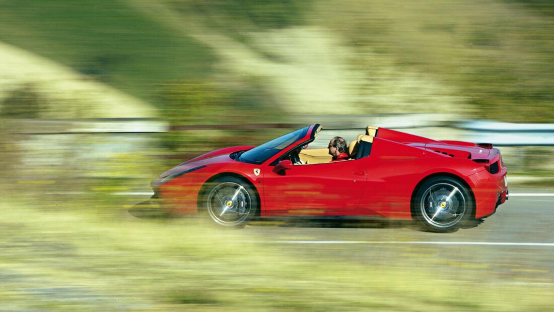 Ferrari 458 Italia Spider, Seite