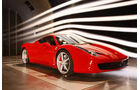 Ferrari 458 Italia im Windkanal