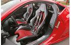 Ferrari 458 Speciale, Fahrersitz