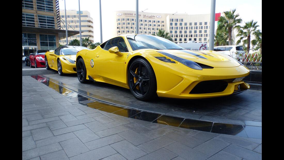 Ferrari 458 Speciale - GP Abu Dhabi - Carspotting 2015