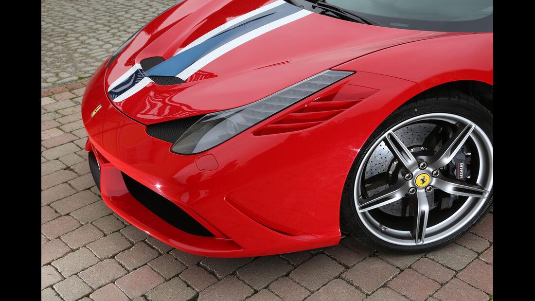 Ferrari 458 Speciale, Motorhaube