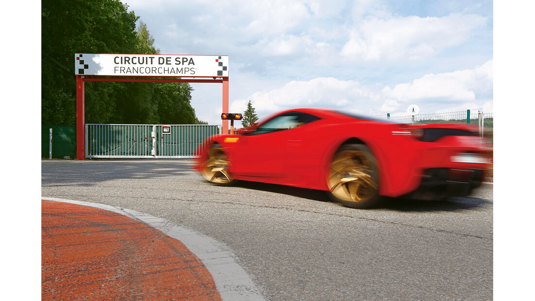 Ferrari 458 Speciale, Spa, Seitenansicht
