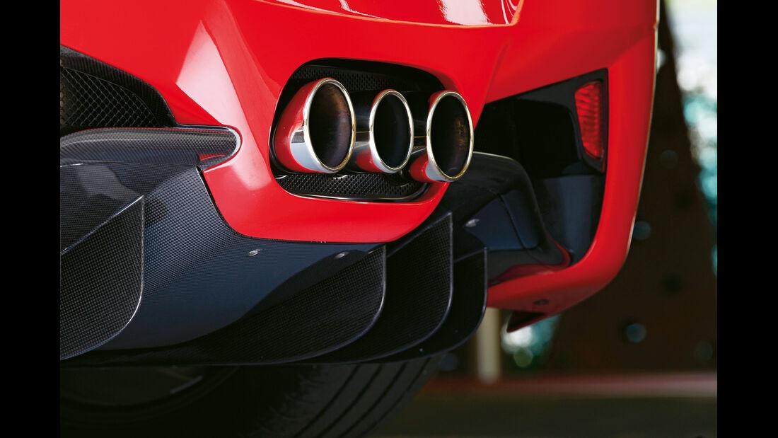Ferrari 458 Spider, Auspuff, Endrohre