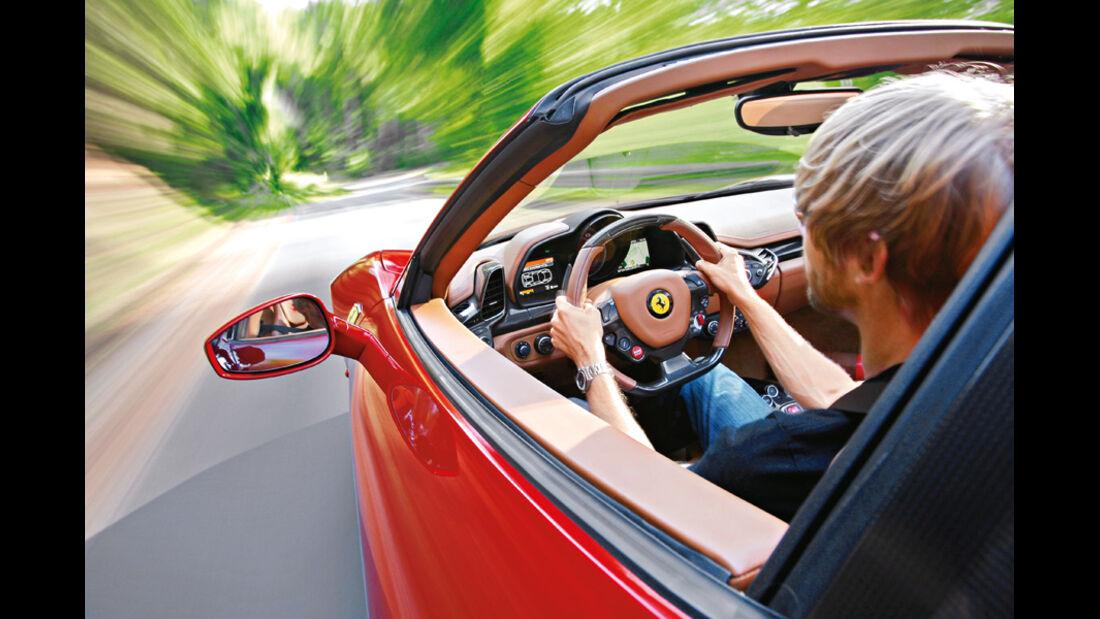 Ferrari 458 Spider, Cockpit, Marcus Peters