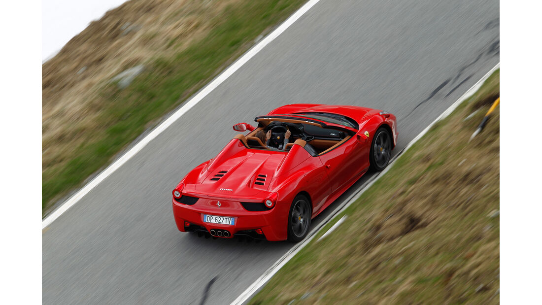 Ferrari 458 Spider, Draufsicht