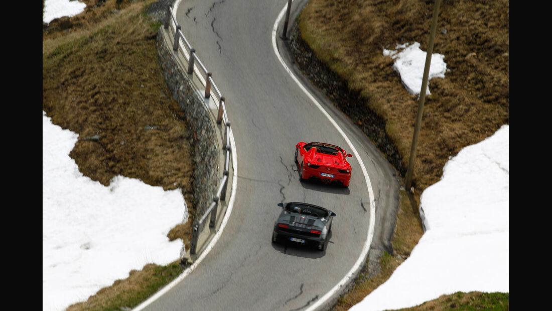Ferrari 458 Spider, Lamborghini Gallardo Spyder Performante, Heck