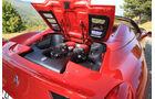 Ferrari 458 Spider, Motorhaube, Motorraum