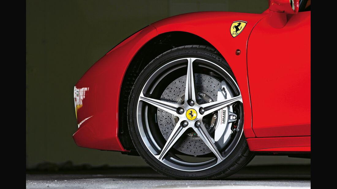 Ferrari 458 Spider, Rad, Felge