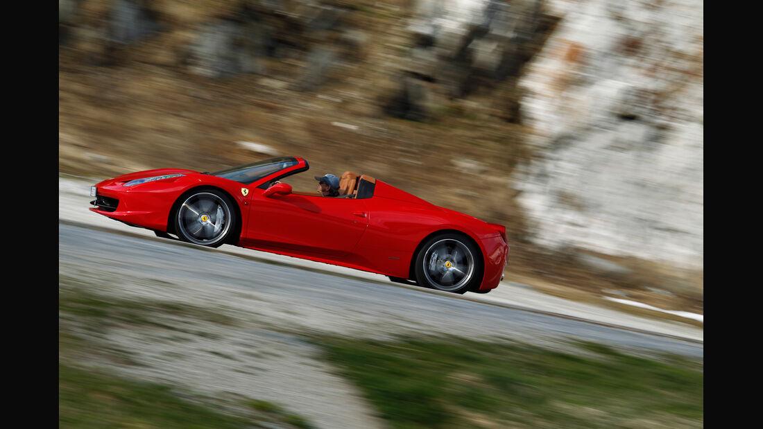 Ferrari 458 Spider, Seitenansicht