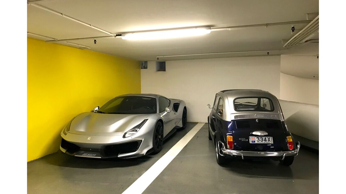 Ferrari 488 GT3 - Fiat 500 - Carspotting - GP Monaco 2019