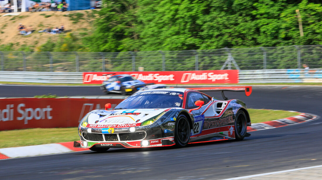 Ferrari 488 GT3 - Startnummer #22 - 24h-Rennen Nürburgring 2018 - Nordschleife - Samstag 12.5.2018
