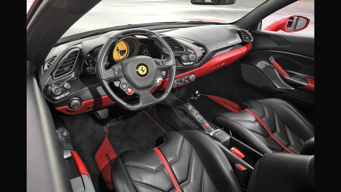 Ferrari 488 GTB, Cockpit