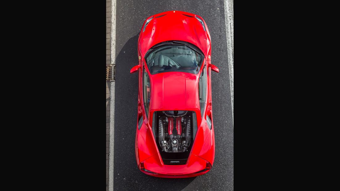 Ferrari 488 GTB, Draufsicht