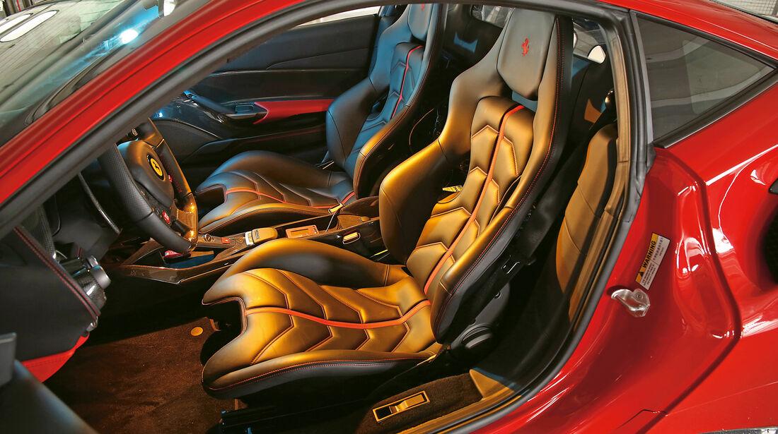 Ferrari 488 GTB, Fahrersitz