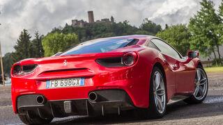 Ferrari 488 GTB, Heckansicht