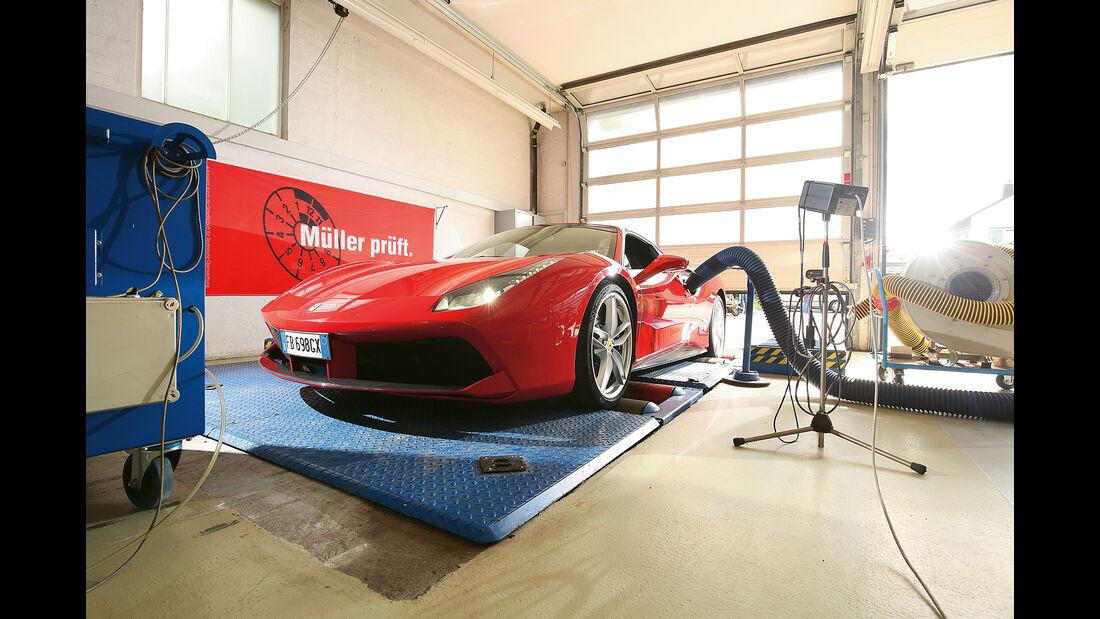 Ferrari 488 GTB, Leistungsmessung
