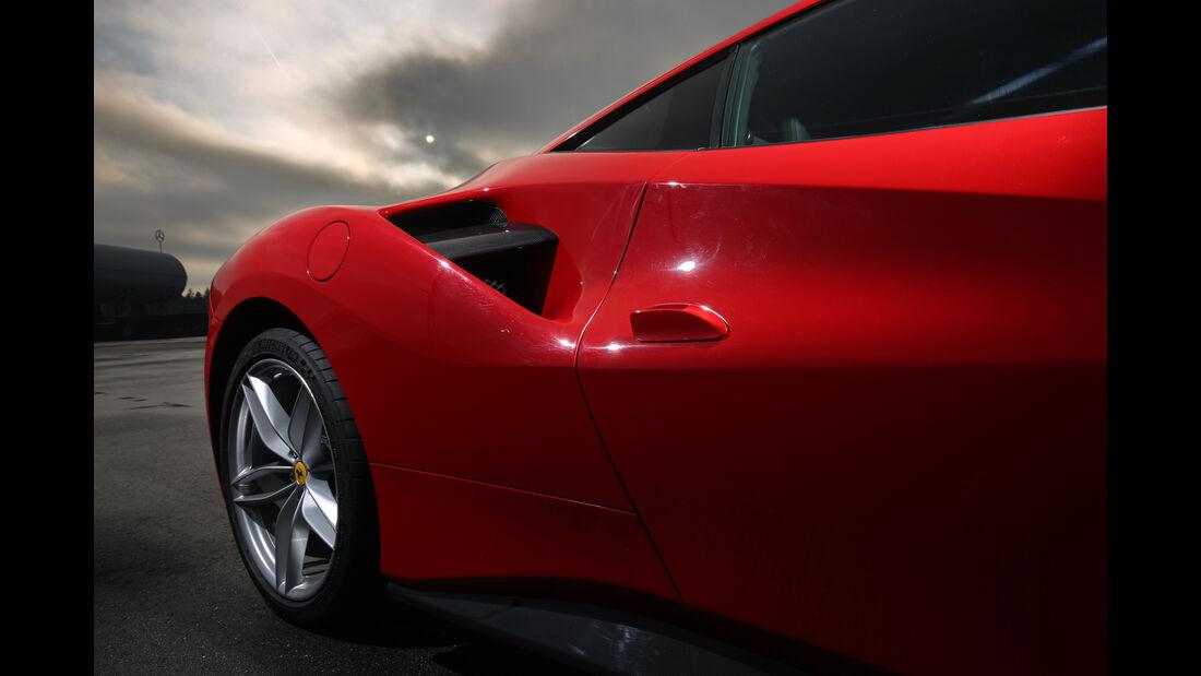 Ferrari 488 GTB, Lufthutze