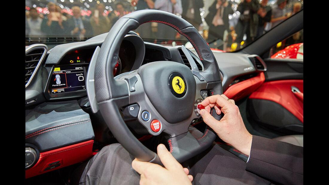 Ferrari 488 GTB Sitzprobe