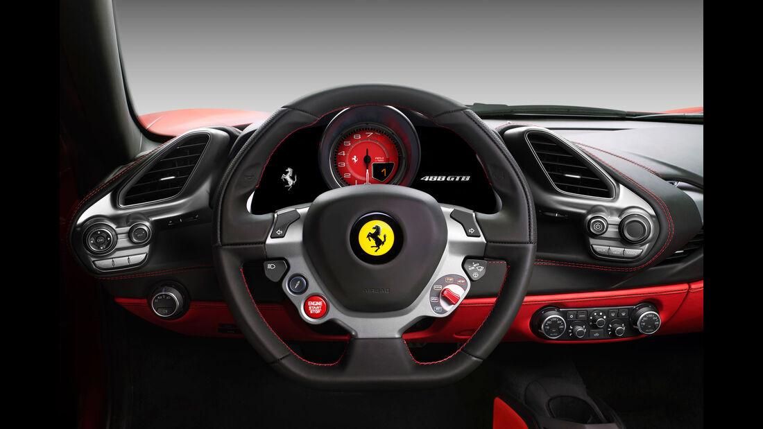 Ferrari 488 GTB - Sportwagen - Lenkrad - Innenraum
