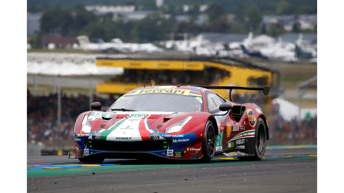 Ferrari 488 GTE Evo - Startnummer #51 - 24h-Rennen Le Mans - Samstag - 15.06.2019