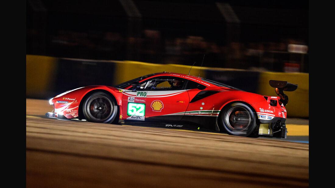 Ferrari 488 GTE - Startnummer #52 - 24h-Rennen Le Mans 2018 - Samstag - 16.6.2018