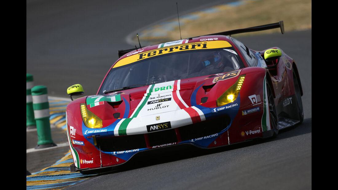 Ferrari 488 GTE - Vortest - 24h-Rennen Le Mans 2017