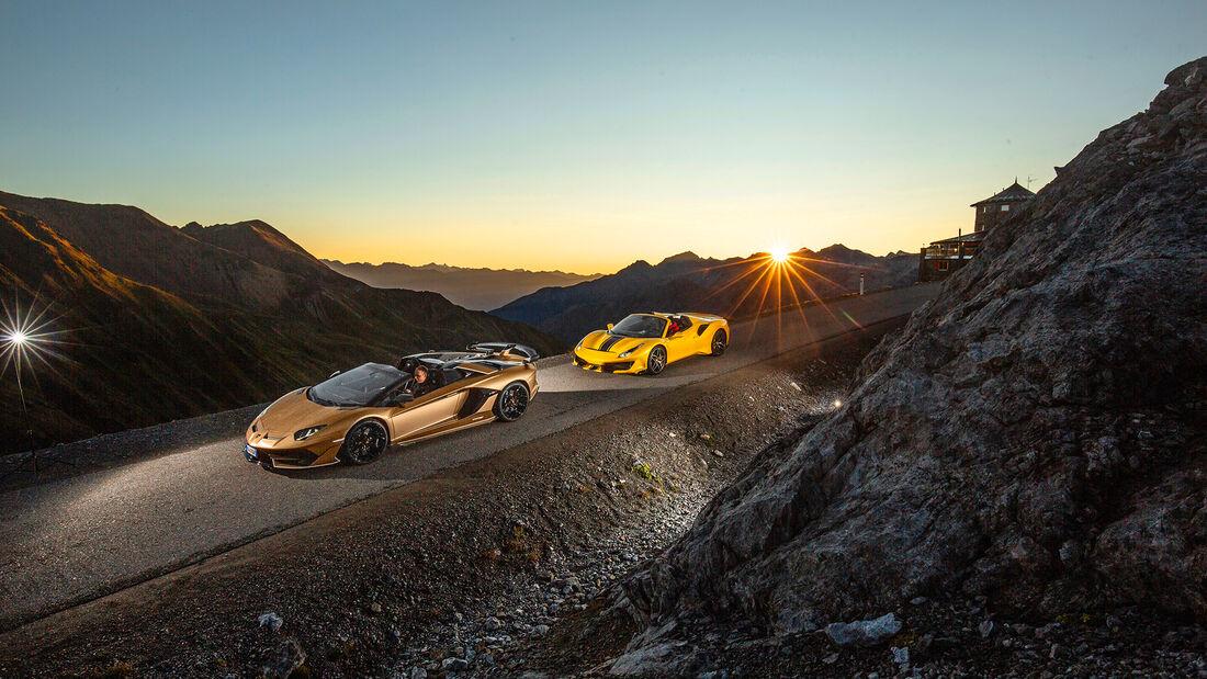 Ferrari 488 Pista Spider, Lamborghini Aventador SVJ Roadster, Exterieur