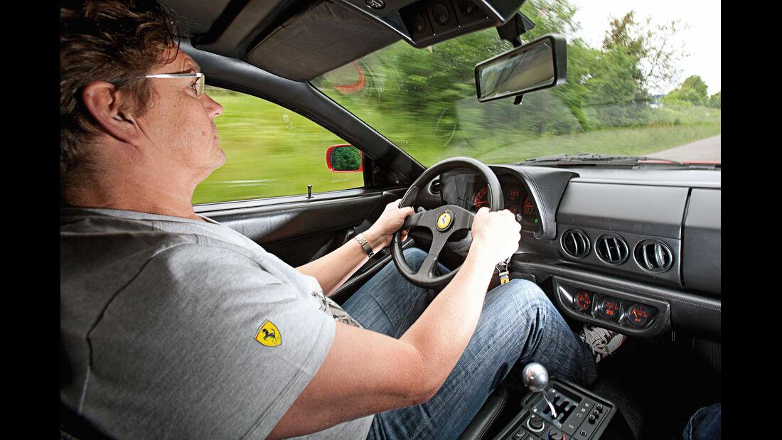 Ferrari 512 TR, Cockpit, Fahrersicht