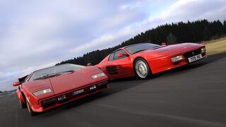 Ferrari 512 TR, Lamborghini Countach 5000 S (LP 500S)