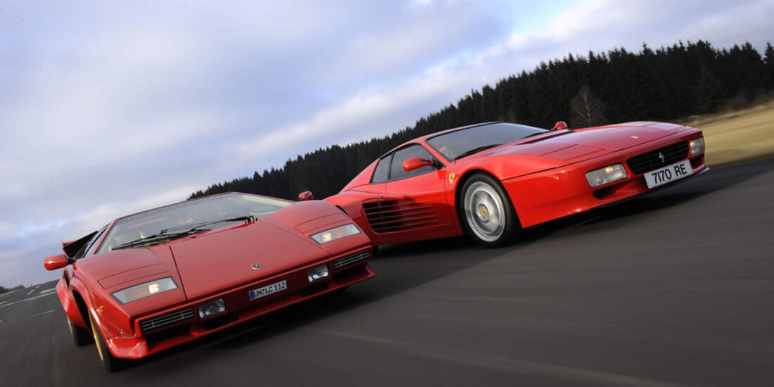 Ferrari 512 Testarossa Und Lamborghini Countach Quartetthelden Der
