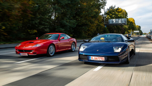 Ferrari 550 Maranello, Lamborghini MurciŽlago, Exterieur