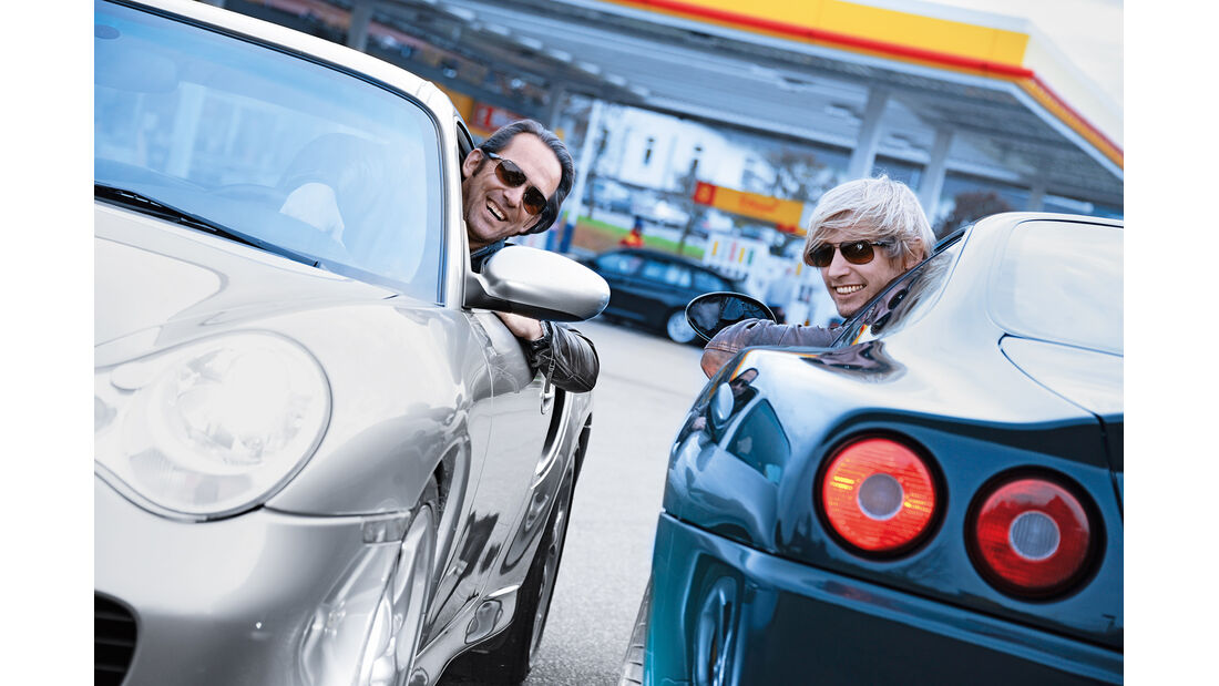 Ferrari 550 Maranello, Porsche 911 Turbo S, Redaktuere