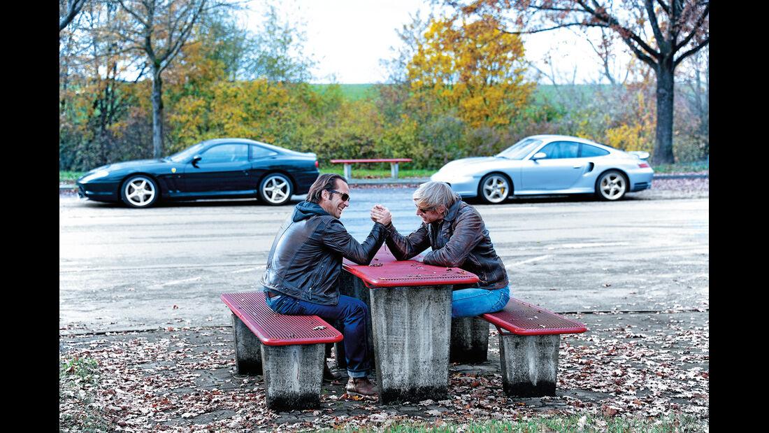 Ferrari 550 Maranello, Porsche 911 Turbo S, Seitenansicht