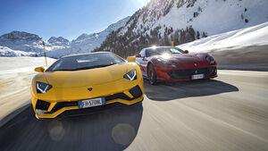 Ferrari 812 Superfast, Lamborghini Aventador S, Exterieur